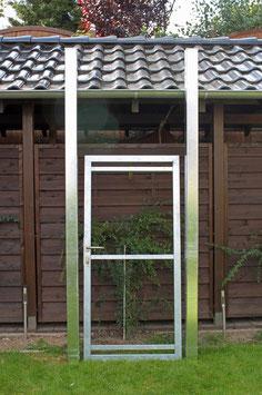 Tür, vorgerichtet für eine bauseitige Holzfüllung