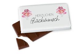 """Schokolade """"Herzlichen Glückwunsch"""""""