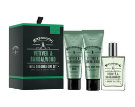 Scottish Fine Soaps Men's Grooming Vetiver & Sandalwood Geschenk-Set.