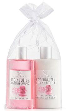 Haslinger Rosenblüten Geschenk-Set in Organzasäckchen