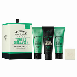 Scottish Fine Soaps Men's Grooming Vetiver & Sandalwood Geschenk-Set.