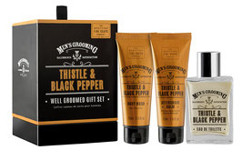 Scottish Fine Soaps Men's Grooming Thistle & Black Pepper Geschenk-Set