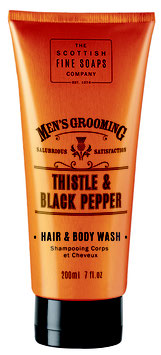 Scottish Fine Soaps Men's Grooming Thistle & Black Pepper Hair & Body Wash