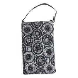 The Moshi Mini-Clutch Tasche Alba, silber/schwarz