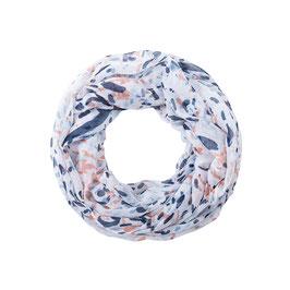 Loop Schal weiss/blau/apricot