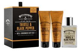 Scottish Fine Soaps Men's Grooming Thistle & Black Pepper Geschenk-Set