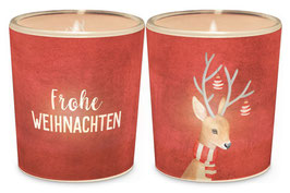 """1 Teelicht """"Frohe Weihnachten"""""""