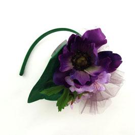 Fascinator Lila Blüten
