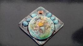 pendentif en céramique multi couleurs