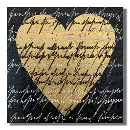 Love Note Schwarz / Gold