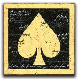 Spielkarten Symbol PIK - Schwarz / Blattgold