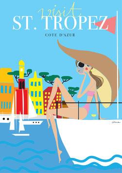 Irma´s World - Travel Poster St. Tropez