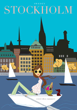 Irma´s World - Travel Poster Stockholm