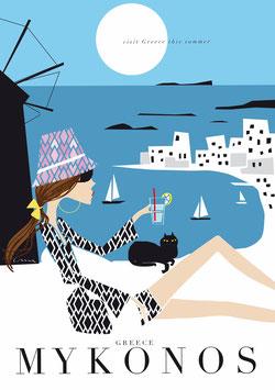 Irma´s World - Travel Poster Mykonos