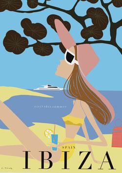 Irma´s World - Travel Poster Ibiza