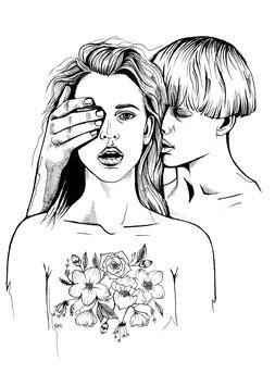 Kunstdruck - Motiv: Love