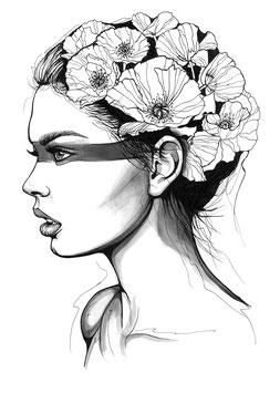 Kunstdruck - Motiv: Flower Girl