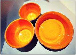 Set de cuencos naranja y morado