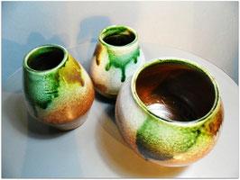 Set jarrones verde