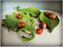 Vaciabolsillos hojas verde