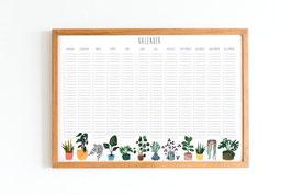 Kalender - Immerwährend - Pflanzen - Botanik