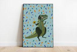 Poster - Dinosaurier - Tanzender Dino
