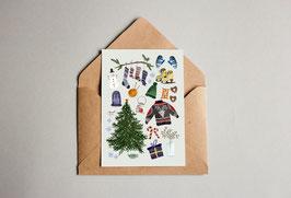 Weihnachtskarte - Merry Christmas - Schöne Dinge