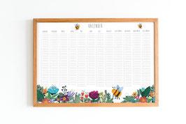 Kalender - Immerwährend - Blumenwiese mit Biene