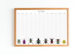 Kalender - Immerwährend - Käfer