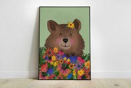 Poster - Blumenbär