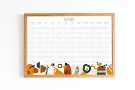 Kalender - Immerwährend - Geometrisch - Boho