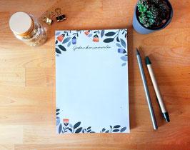 Notizblock - Gedankensammler - Planzen