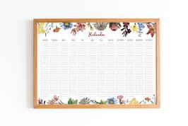 Kalender - Immerwährend - Blumen - Botanik