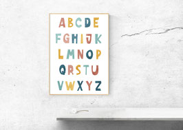 Poster - Illustration Abc - Alphabet