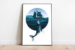 Poster - Wal Ocean - maritimer Print