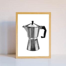 Poster - Espressokocher - Kaffee - Küchenposter