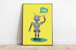 Poster - Roboter Hello