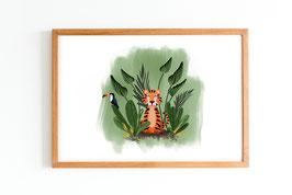 Poster - Dschungelfieber - Tiger im Dschungel