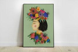 Poster - Blumenfrau