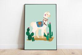 Poster - Lama - Happy Lama