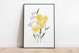 Poster - Illustration Blumenstrauß Sommer Wildblumen