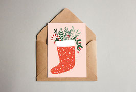 Weihnachtskarte - Merry Christmas - Elch - Grußkarte - Christmas