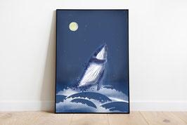 Poster - Wal - Ozean - Meer - Mond
