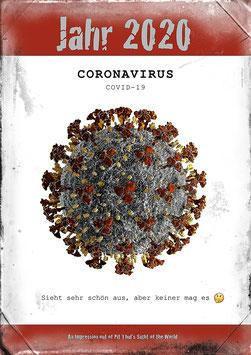 "Künstlerisches Plakat ""Corona"" - P 020/01 -"