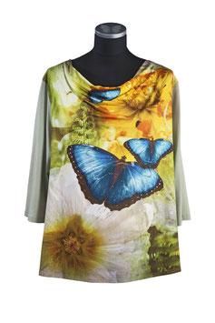 Damenshirt PELEIDES mit Wasserfallkragen