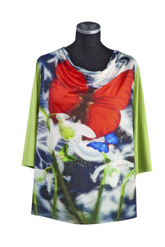 Damenshirt CYMOTHOE mit Wasserfallkragen