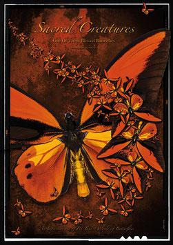"""Künstlerisches Plakat """"Scared Creatures"""" - P 018/03 -"""