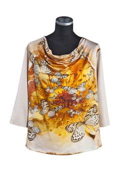 Damenshirt IDEA mit Wasserfallkragen