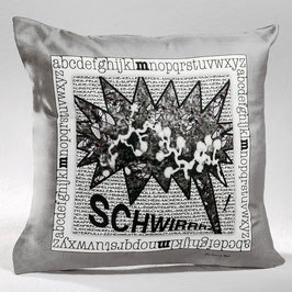 "DEKOKISSEN/PILLOWCASE ""SCHWIRRR"" - DPC-AC 006-14 40-40"