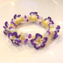 Frangipani Armband Violett